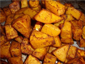 Clean Eating Spicy Roasted Butternut Squash