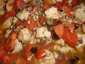 Clean Eating Chicken with Tomatoes, Olives and Capers