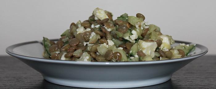 clean eating lentil salad