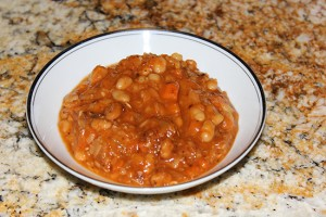 Clean Eating Bean with Bacon Soup