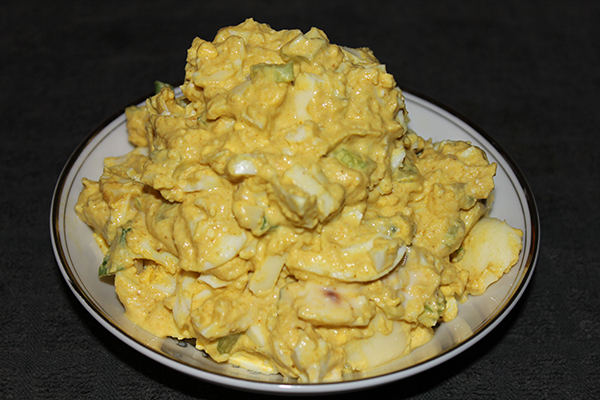 clean eating curried egg salad